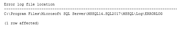 Error log location