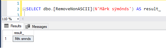 SQL Function to remove special characters