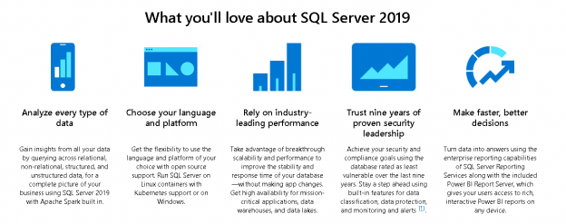 SQL Server 2019 features