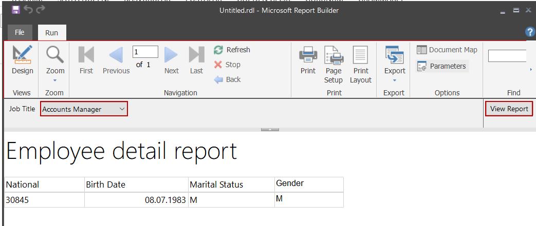 Usar parámetros de valores múltiples en un informe