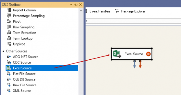 add an excel source
