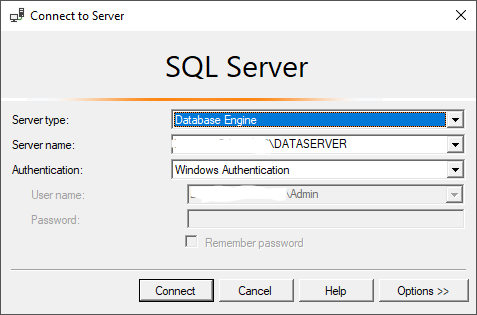 connecting to an instance in SQL Server Profiler