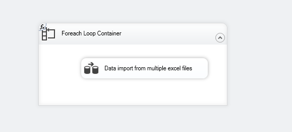 Drag the Data import from multiple excel files task into the foreach loop container