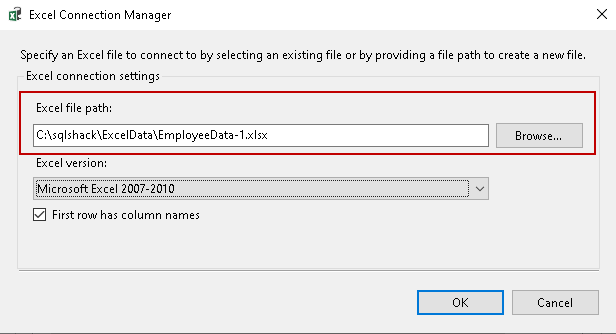 Excel connection Manager
