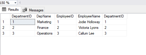 Join statement usage with table variables in SQL Server