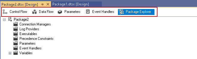 SSIS package explorer