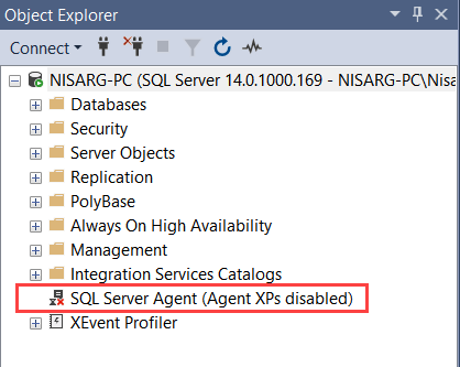 SQL Server Agent service is not running