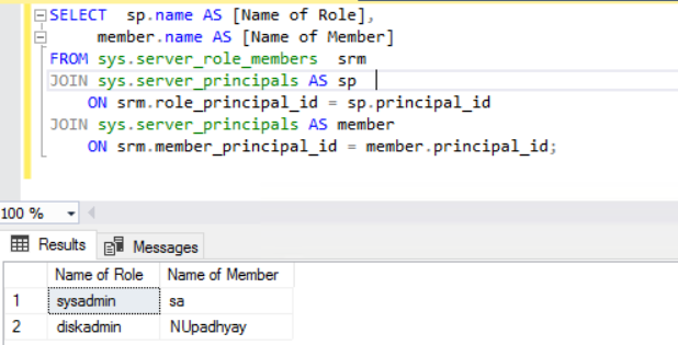 Query to get the list of SQL Logins