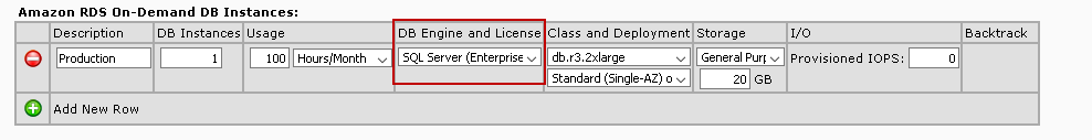 Select SQL Server Enterprise edition for the RDS instance
