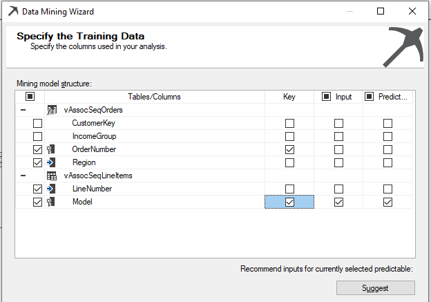 Specify the Training Data