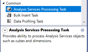 Analysis services processing task description from SSIS toolbox