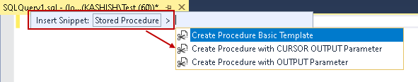 Create procedure basic template