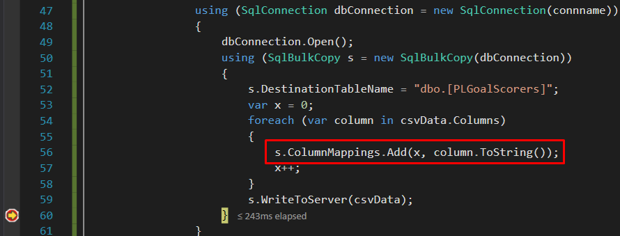 Hybrid of Column by Name & Column by Position mapping options available.