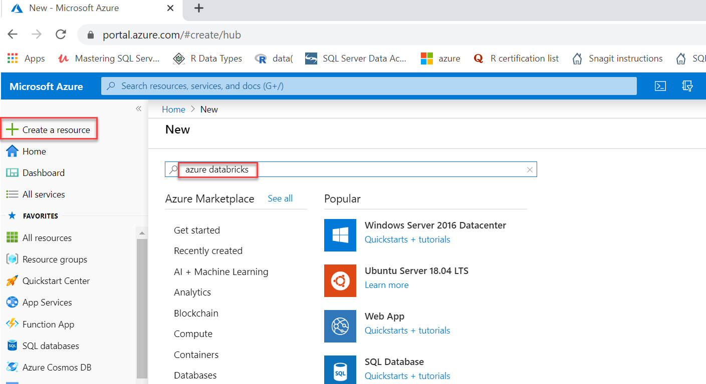 Create Databricks on the Azure portal. 1/3