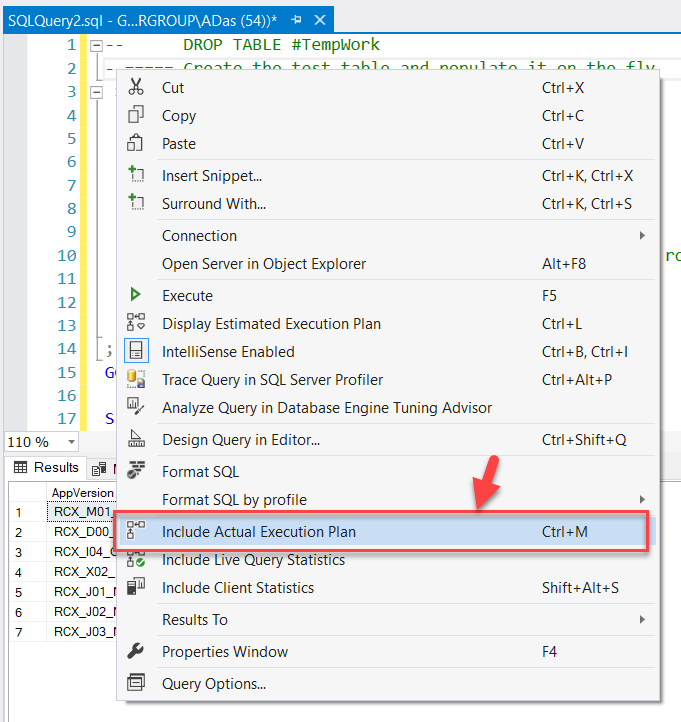 Display Actual Execution Plan in SQL Server