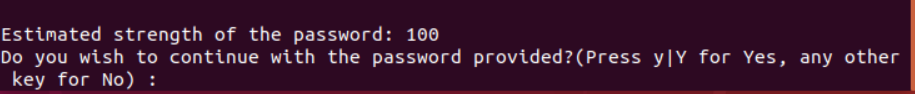 Estimation strength of the entered password