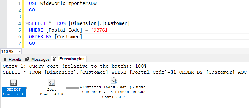 Execution Plan in SQL Server