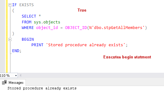 Overview Of The T Sql If Exists Statement In A Sql Server Database