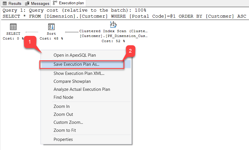 Save Execution Plan in SQL Server