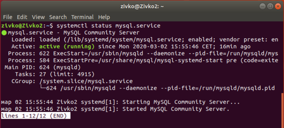 See the status of installed MySQL