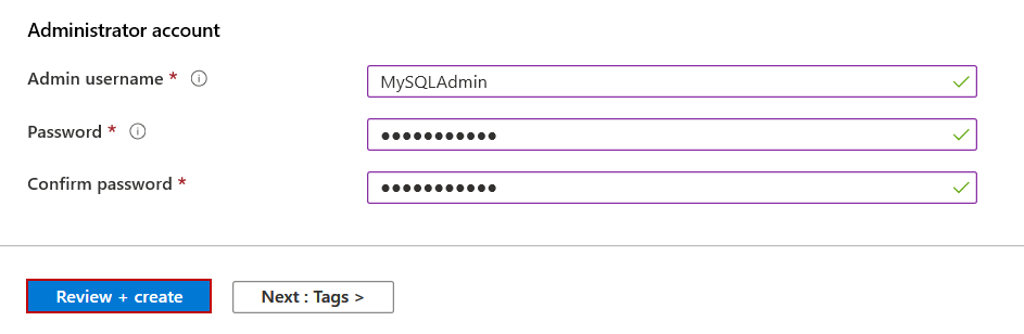 Configure administrator account
