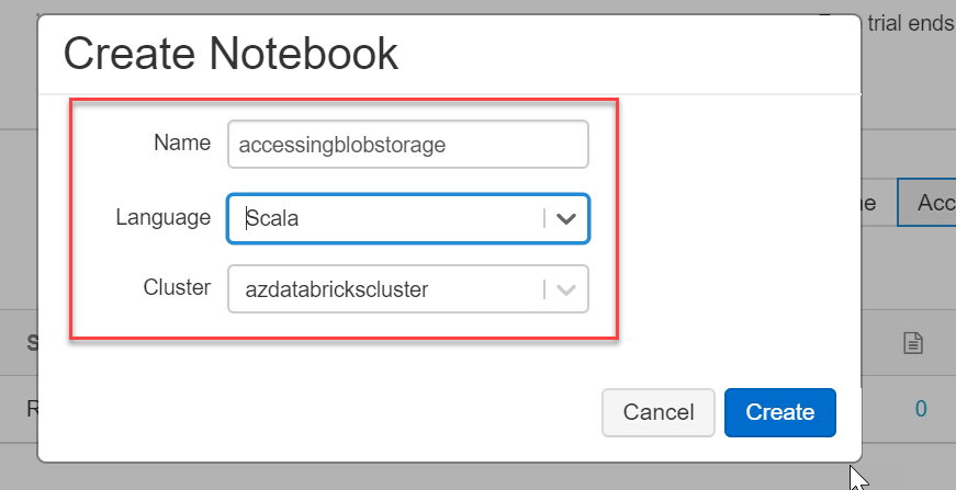 Create a Scala notebook in Azure Databricks
