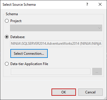 Loading selected schema source