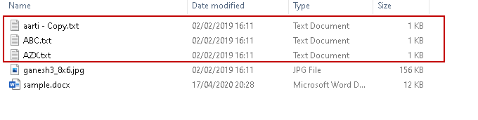 Upload the files using a Comparison between specified directory