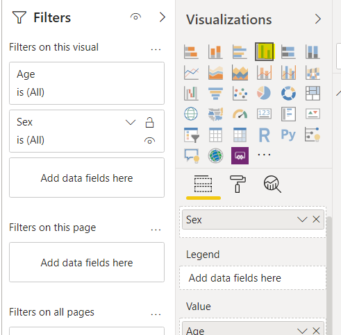 Select a data visualation to create.
