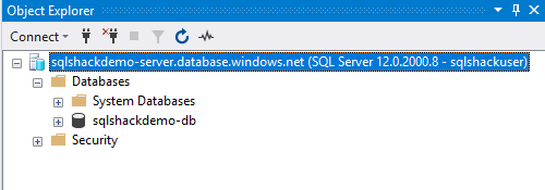 SQL Database using Azure CLI Connected
