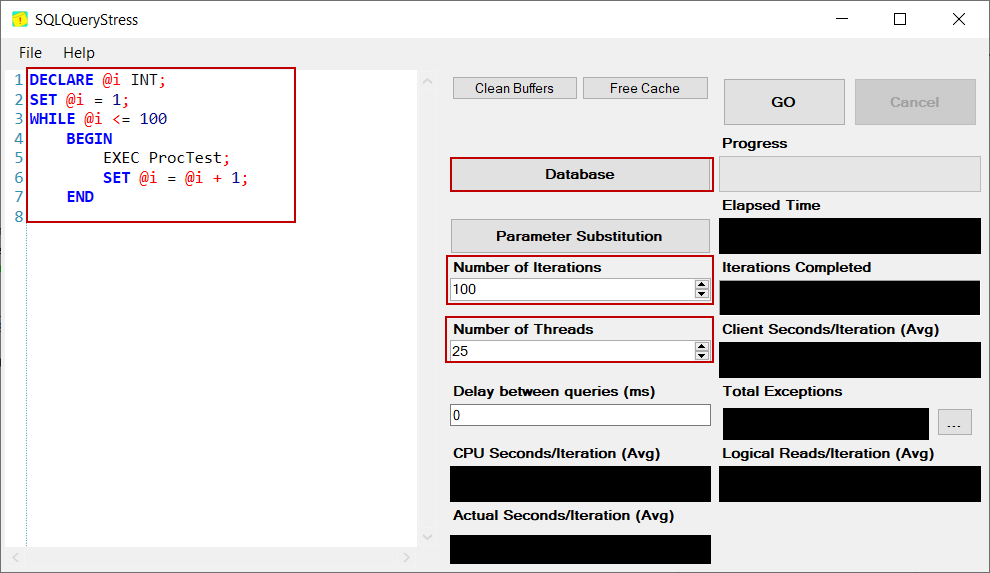 Using SQLQueryStress for SQL Server TempDB  database contention