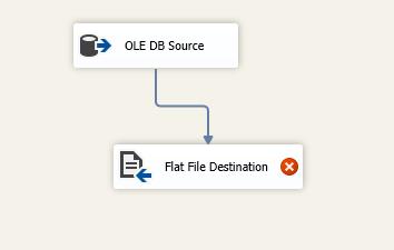 Adicione o destino do arquivo simples