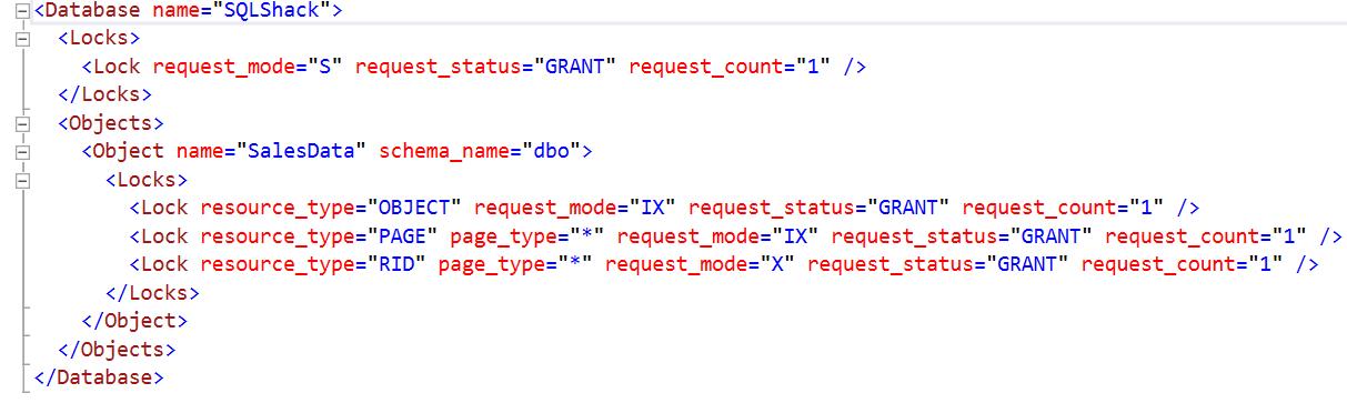 Verifique os detalhes XML do bloqueio