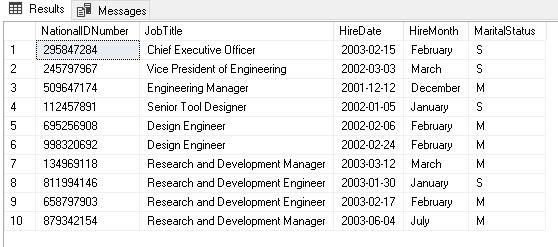 Comparação da instrução CASE no SQL