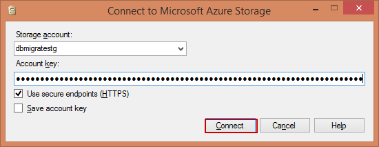Connect to Microsoft Azure Storage