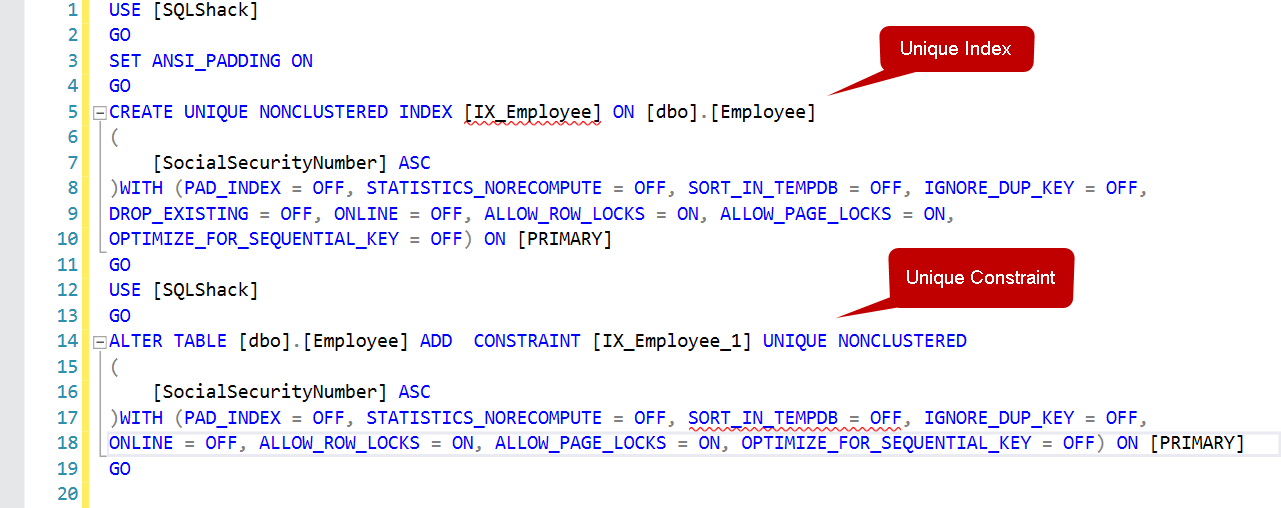 Constraints in SQL: Non-Clustered Index