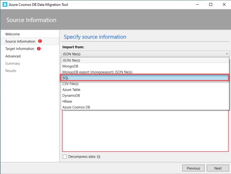 Copiar do SQL