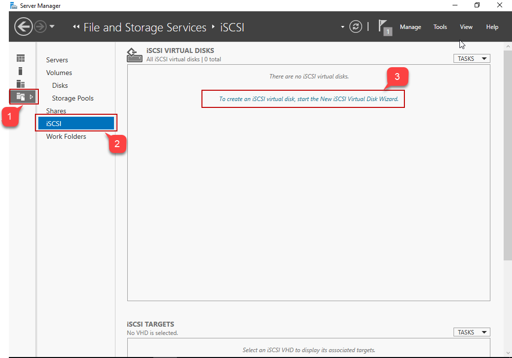 Create iSCSI virtual disk