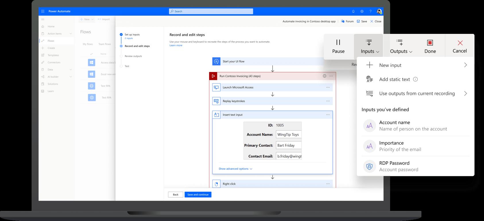 Plataforma de energia da Microsoft - Power Automate