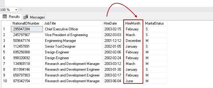 Função mês