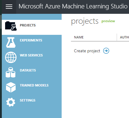 Options in Azure Machine Learning Studio