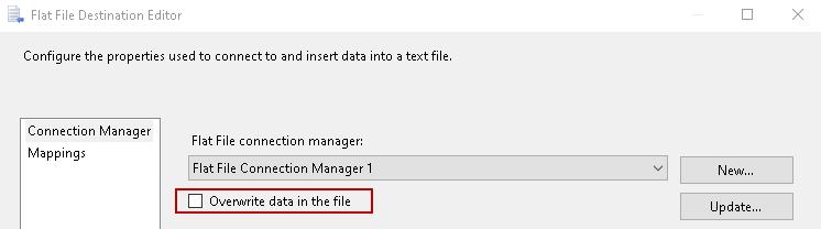 Sobrescrever dados no arquivo
