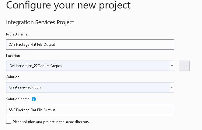 Especifique o nome do projeto