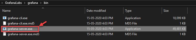 Iniciando o Grafana Server