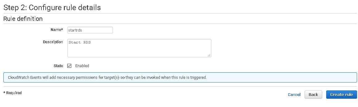 Etapa 2: configurar detalhes da regra