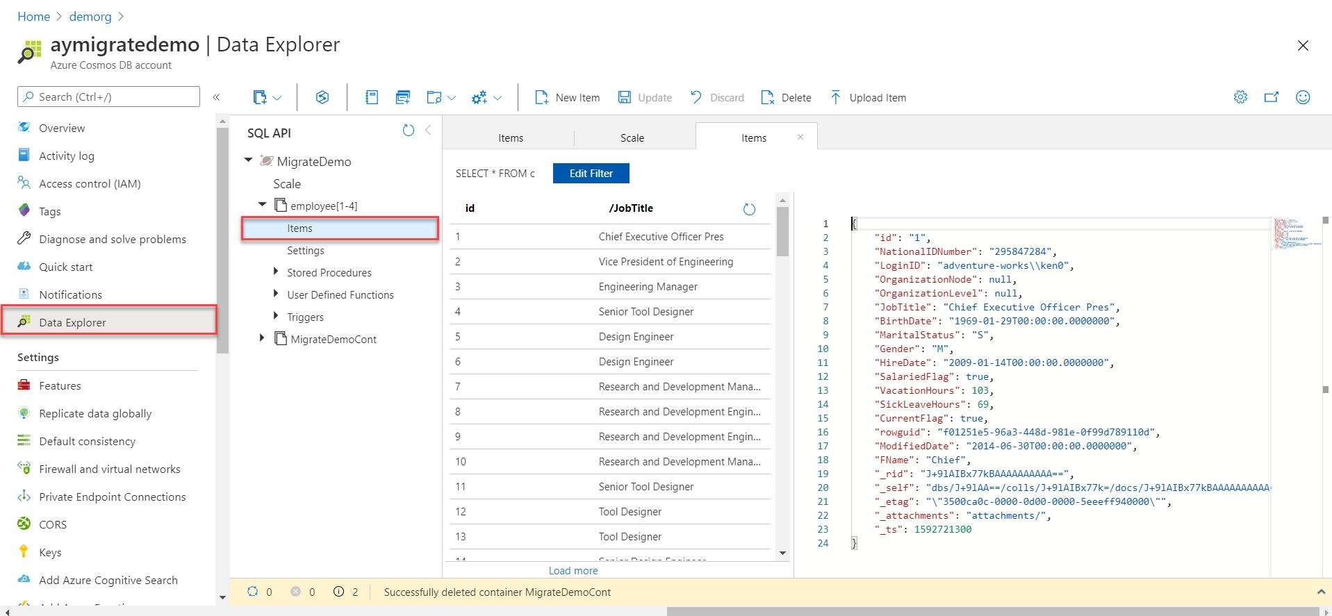Validar dados usando o Data Explorer