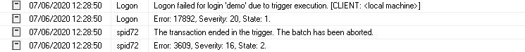Exibir logs de erro SQL Server