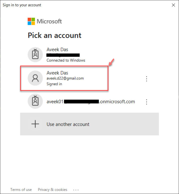Authenticating the Power BI Service Account