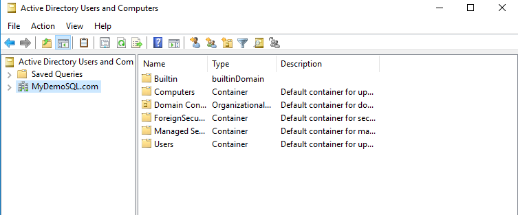 Create an active directory user for SQL Server always on availability groups