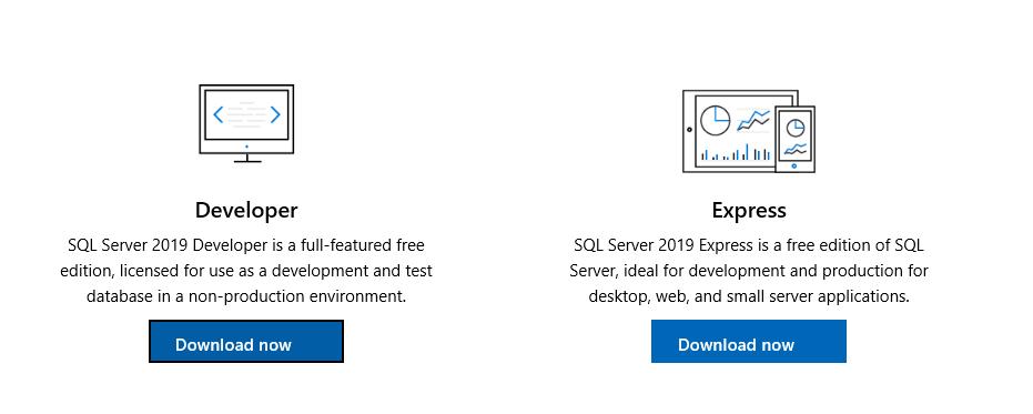 Download SQL Server 2019 developer edition